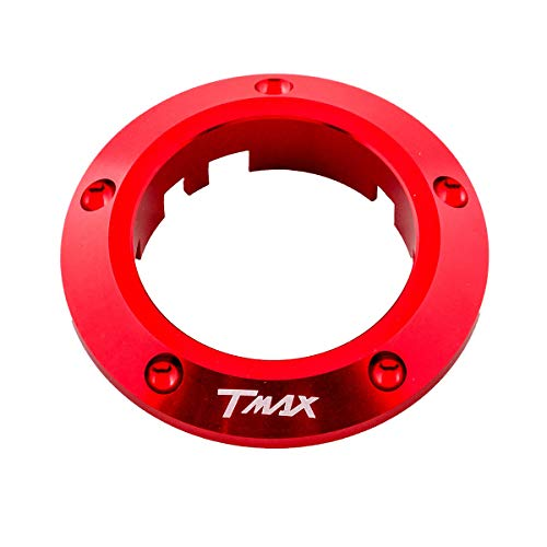 ONE by CAMAMOTO cornice si chiave per yamaha t-max 530, contorno chiave t-max 530, coperchio chiave per yamaha t-max 530 (ROSSO)