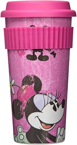 Fun Kids 1704-280 Vaso con Tapa Modelo Minnie, color Rosa/Fiusha