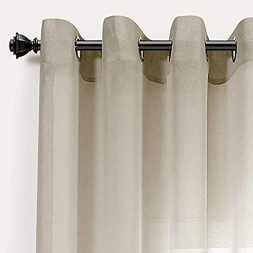 PimpamTex - Tenda Decorativa traslucida con 8 Occhielli in Metallo, Tende per Soggiorno o Camera da...