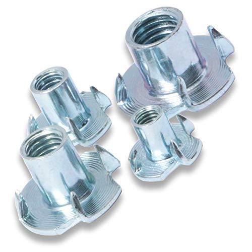 Einschlagmuttern/Einschlaggewinde/Einschlagmuffen/Schlagmuttern verzinkt (Gewinde M8, 10 Stück)