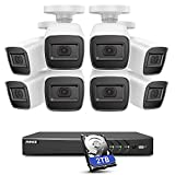ANNKE E800 4K Security DVR System 8CH 8MP DVR with 2TB HDD, 8 x 4K (3840x2160) IP67 Waterproof Bullet Surveillance Cameras, Easy Remote View & Motion Dection, EXIR Night Vision