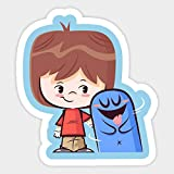Fosters Home for Imaginary Friends Character Bloo Vinyl Decal Laptop Car Sticker Set of 2