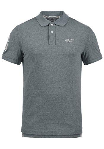 BLEND Ludger Maglietta T-Shirt Polo A Manica Corta da Uomo, Taglia:S, Colore:Dusty Blue (74649)