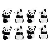 8 Pcs Finger Panda Plush 4 inch Panda Clips...