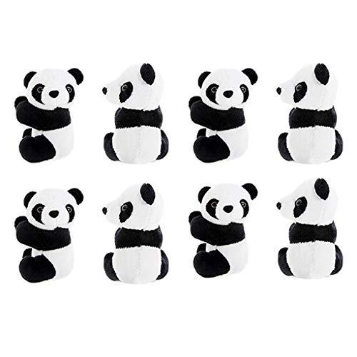 8 Pcs Finger Panda Plush 4 inch Panda Clips Curtain Holder Stand Note Memo Clips Photo Holder Cute Panda Toy Doll Finger Kids Toy,Home Decoration Plant Pots Bonsai Craft Decor,Chinese Style Souvenir