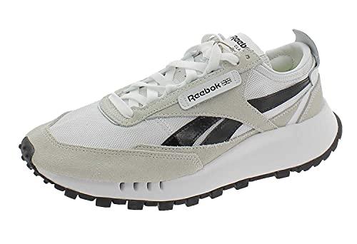 Reebok Classic Leather Legacy Shoes, Zapatos-Bajos (NO FÚTBOL) Unisex Adulto, FTWR White/Core Black/Acid Yellow, 43 EU