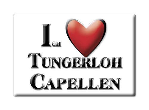 Enjoymagnets TUNGERLOH CAPELLEN (NW) Souvenir IMANES DE Nevera Alemania Nordrhein Westfalen IMAN Fridge Magnet Corazon I Love
