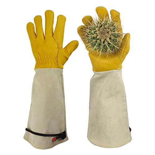 Taicanon Bequeme und atmungsaktive Gartenhandschuhe, können für Gartenrosen, Kaktusbeschneiden, Elektroschweißen, etc. verwendet werden.