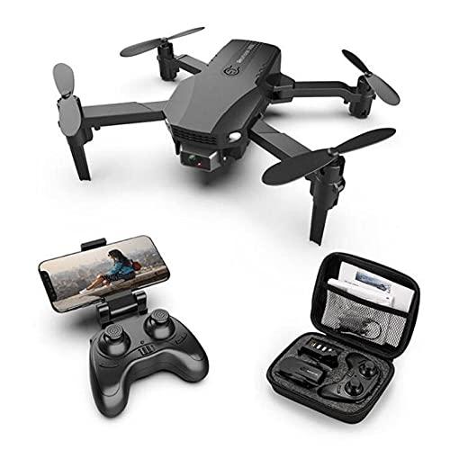 BGYVNU Nuevo R16 Drone 4k HD de Doble Lente Mini Drone WiFi 1080p transmisión en Tiempo Real FPV Drone cámaras duales Plegable RC Quadcopter Juguete (Gris 2cam 2batería)