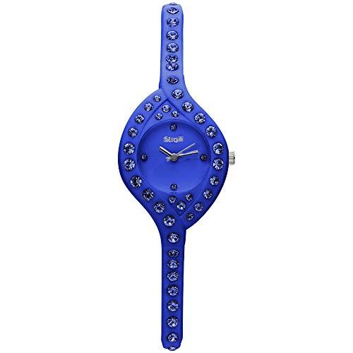 Stroili - So Girly orologio solo tempo in silicone blu e cristalli con quadrante blu per Donna
