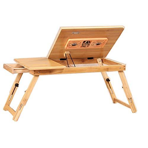 hongbanlemp Soportes para Portátiles Bambú Plegable portátil PC Laptop Stand Cama de pie Bandeja de Escritorio Regulable en Altura y ángulo de visión Soporte Ordenador Portátil