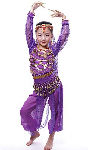 Astage Niña Disfraz Bailarina Danza del Vientre India Manga Larga Todos Accesorios