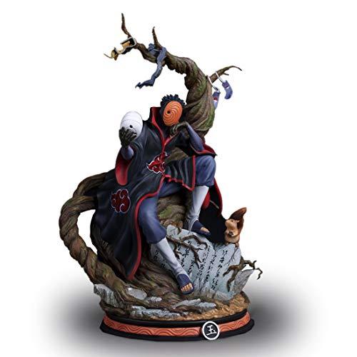 Wuhuayu Naruto Anime Figur, Uchiha Obito (Tobi) Zarte Harzstatue, Maßstab 1/6, 325 Mm Höhe, Fertige Handgemalte Figur, Enthält Zwei Kopfskulpturen