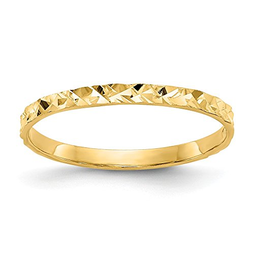 14k Yellow Gold Design Wedding Ring Band Childs Size 3.00 Baby Fine Jewellery For Women Gifts For Her