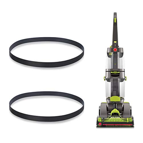 LANMU Replacement Belts Compatible with Hoover Models FH51000, FH51001, FH51002 Series Dual Power Max Carpet Vacuum Cleaner, Non-Stretch Flat Power Belt, Compare to Parts# 440005536 (Pack of 2)