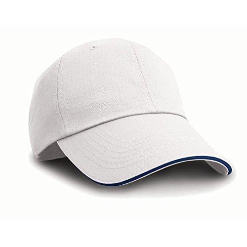 Result - Casquette de Baseball - Homme Blanc White/navy taille unique