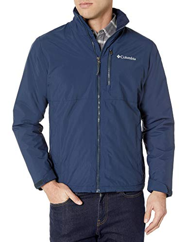 Tommy Hilfiger Men's Waterproof Breathable Hooded Jacket, Navy, Large