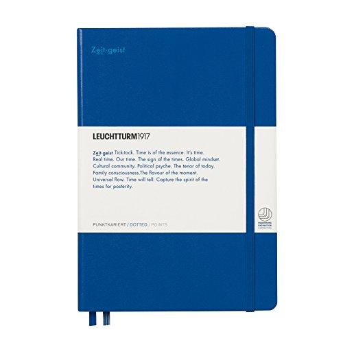 """LEUCHTTURM1917 358161 Notizbuch Medium (A5) Leuchtkraft, Hardcover, 251 Seiten, dotted, Königsblau """"Zeitgeist"""""""