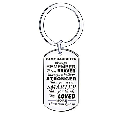 Daughter Keyring Keychain Key Ring Bithday Graduation Gift for Daughter from Dad Mum