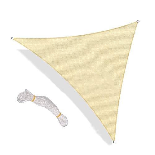 W.Z.H.H.H Schattensegel Triangle Sun Sonnensegel Vordach Pergolas obere Abdeckung durchlässige UVBlock Stoff for Outdoor-Garten Sonnenschutztuch. (Color : Light Yellow)