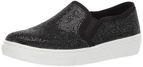 Skechers Donna Goldie-Flashow. S Tonale Strass Slip On Sneaker - Nero, 9 M USA