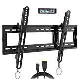 FOZIMOA Tilting TV Wall Mount for 32-80 inch TVs, up to 165 lbs & VESA 600x400mm, Fits LED LCD Flat Curved Screen, Bubble Level Included