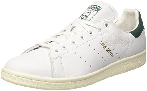adidas Stan Smith, Zapatillas para Hombre, Blanco (Footwear White/Footwear White/Collegiate Green 0), 44 EU