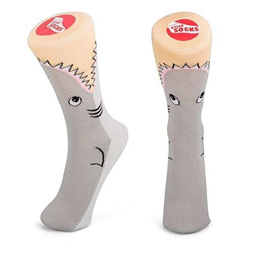 trendaffe Hai Socken in 37-45 im Paar - Haifisch Strumpf Weißer Hai