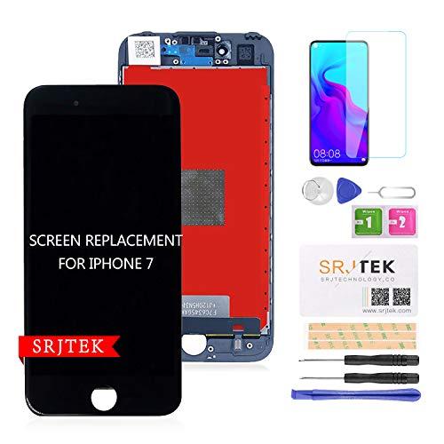 SRJTEK For iPhone7 修理用交換用LCD 画面交換修理 交換用LCD フロントパネル タッチパネル 液晶パネル フロントガラスデジタイザー 修理工具付き