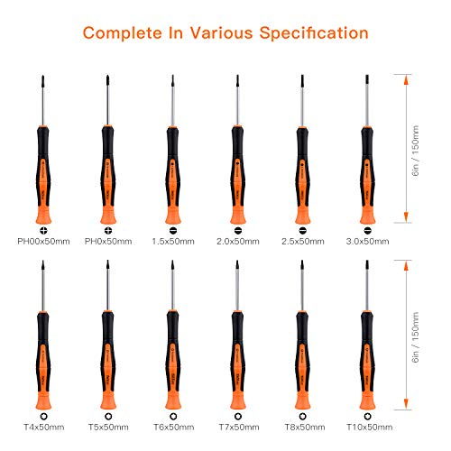 TACKLIFE Magnetic Screwdriver Set, 26PCS Professional Screwdriver Set with Case Includes Slotted/Phillips/Torx Precision Screwdrivers for Repairing Home Improvement Craft
