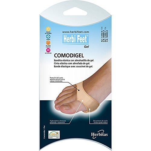 Almohadilla Metatarsal con banda elastica Gel T. L-Par HERBITAS. incluye guia del cuidado del pie GRATIS