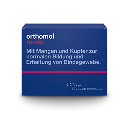 Orthomol tendo 30x Granulat, Tablette & Kapseln - Bindegewebe straffen & stärken - Kollagenhydrolysat Nahrungsergänzung