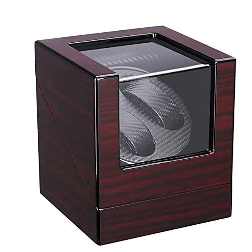 hyywmgx Enrollador de reloj para relojes automáticos Motor silencioso 5 modos de rotación caja de reloj para 2 hombres o mujeres