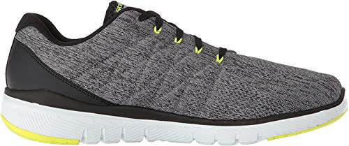 Skechers FLEX ADVANTAGE 3.0- STALLY-52957, Herren Low-Top, Grau (Gray & Black), 43 EU
