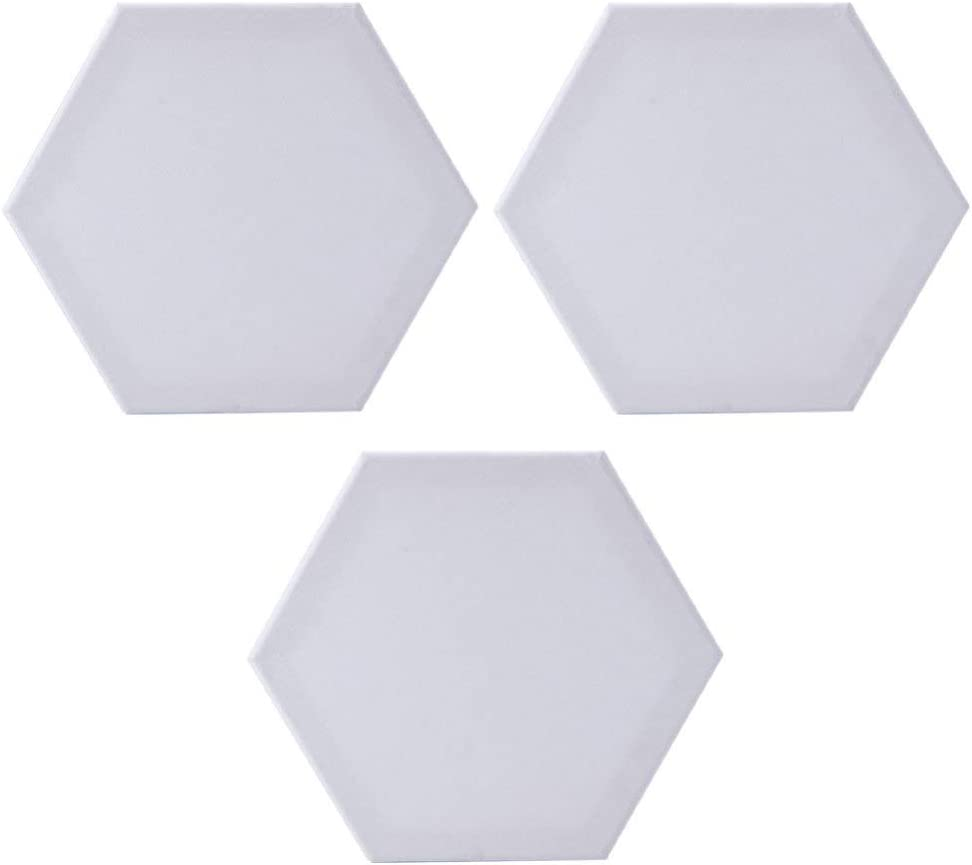 Limited time sale Milisten Hexagon Canvas Artist Boards 12 for Oil Painting Max 69% OFF