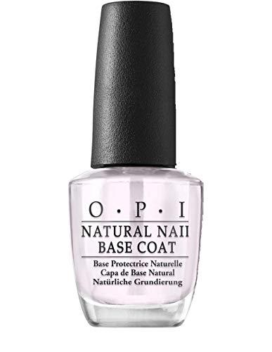 OPI Nail Lacquer Natural Nail Base Coat – Durchsichtiger Unterlack mit bis zu 7 Tagen Halt – Ergiebig, langlebig & splitterfest – NTT10
