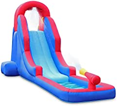 Deluxe Inflatable Water Slide Park – Heavy-Duty Nylon for Outdoor Fun - Climbing Wall, Slide, & Small Splash Pool – Easy to Set Up & Inflate with Included Air Pump & Carrying Case