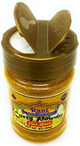 Rani Curry Powder Hot Natural 11-Spice Blend 85g (3oz) ~ Salt Free | Vegan | Gluten Friendly | NON-GMO