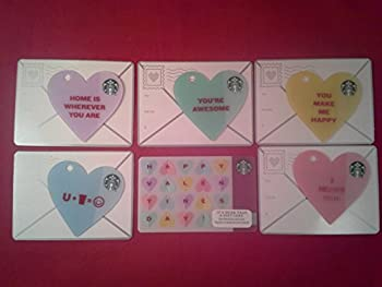 Starbucks Valentine s Day Gift Cards Set of 5 Die Cut Heart Shaped + 1 More