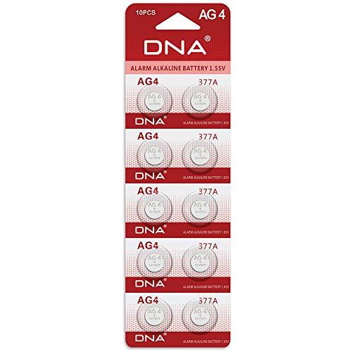 DNA - 10 batterie a bottone, per orologi, pile di tipo AG4, LR626,377,SR626,606