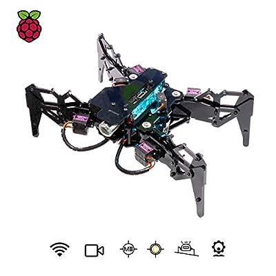 Adeept DarkPaw Bionic Quadruped Spider Robot Kit for Raspberry Pi 3 Model B+/B/2B, STEM Crawling Robot, OpenCV, Self-stabilizing Based on MPU6050 Gyro Sensor, Raspberry Pi Robot with PDF Manual