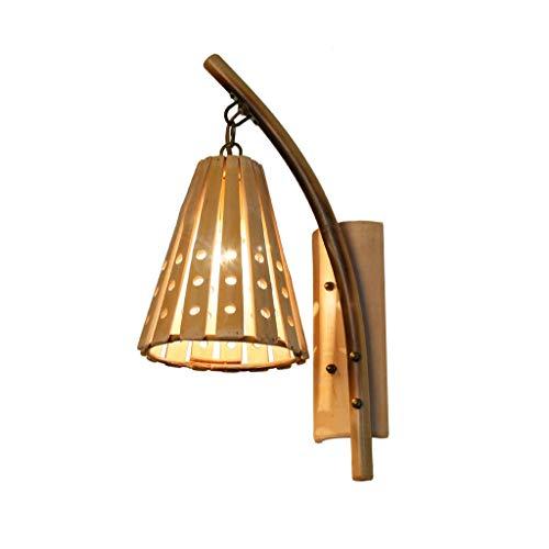 HSWYJJPFB Apliques de Interior Lampara Pared Dormitorio Retro Bamboo Wall Light Pasillo Dormitorio Bedside Hollow Bamboo Lamp Escaleras