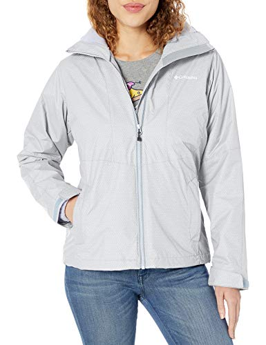 Columbia Women's Plus Size Ruby River Interchange Jacket, Cirrus Grey Sparkler Print, 1X