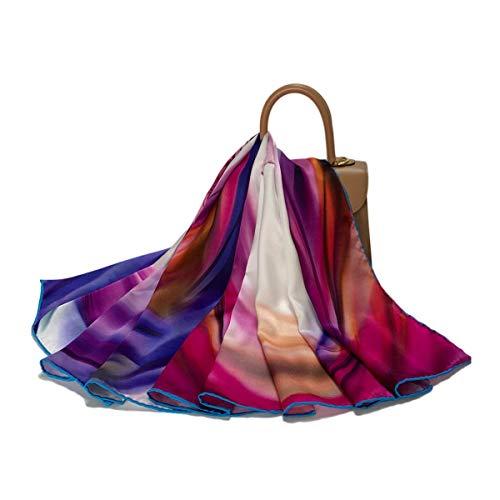 FELOVE Seidenschals Damen 100% Seiden Schal, Muttertag Geschenk,Schal aus reiner Seide, Elegante Seidentuch Hohe Qualität Hautfreundlich ,Weihnachtsgeschenk. Halloween