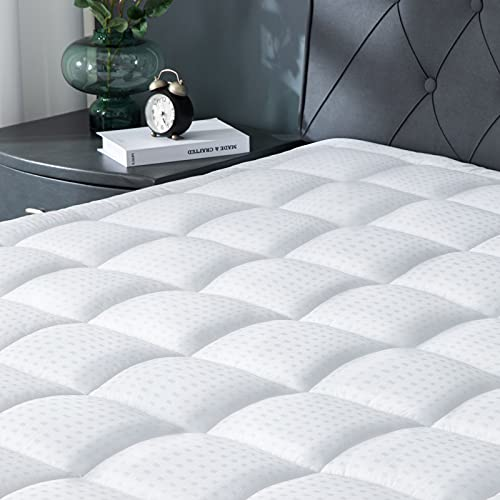 """Viewstar Mattress Pad Twin XL Cooling Cotton Quilted Fitted Mattress Topper Cover, Extra Thick Pillow Top Bed Cover with Snow Down Alternative Fill,6-21"""" Deep Pocket for Twin XL Size"""