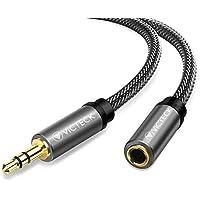 Cable audio alargador extensión 5M, Victeck Nylon Trenzado Jack Audio Estéreo 3,5 mm macho a hembra para coche altavoces auriculares iPhone iPad iPod Samsung MP3 Player (5M)