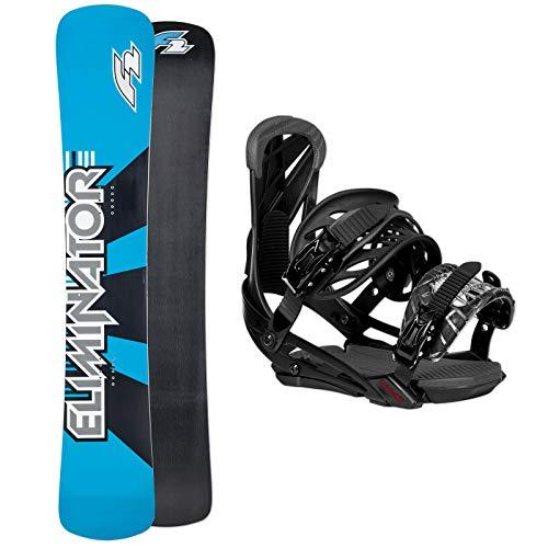 F2 RACEBOARD Snowboard Eliminator 163 cm 2019 + Eliminator Carve BINDUNG L/XL