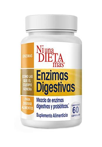 NI UNA DIETA MÁS - Reduce el Abdomen Inflamado - Enzimas Digestivas para Quesos, Dulces, Carnes, Vegetales y Leches - con Probióticos y Extra-Lactasa (para Niños y Adultos)