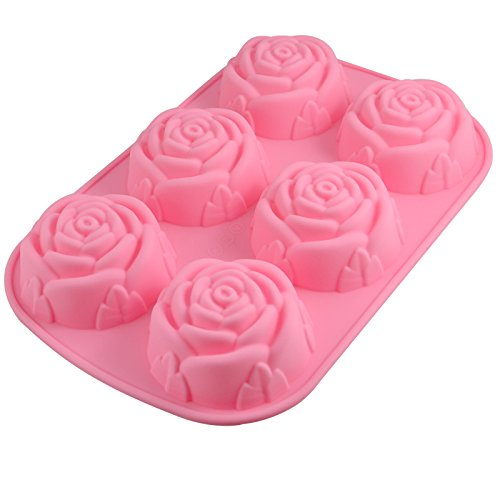 Xmas 6-Cavity Rose Silicone Mould Ice Cube Chocolate Cake Cupcake Soap Molds DIY by CTT
