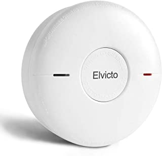 Elvicto Combination Photoelectric Smoke & Carbon Monoxide Detector 10 Year Battery Operated, Travel Portable Fire and Co Alarm for Home, Kitchen